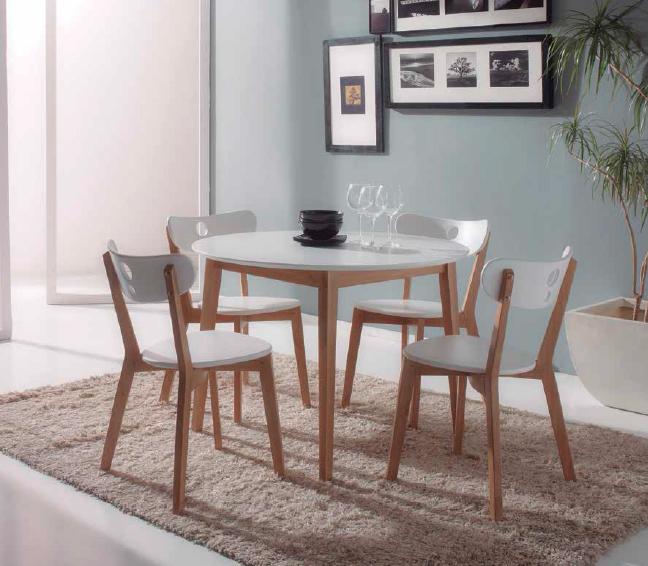 Mesa y 4 sillas aida for Conjunto mesa y sillas cocina baratas
