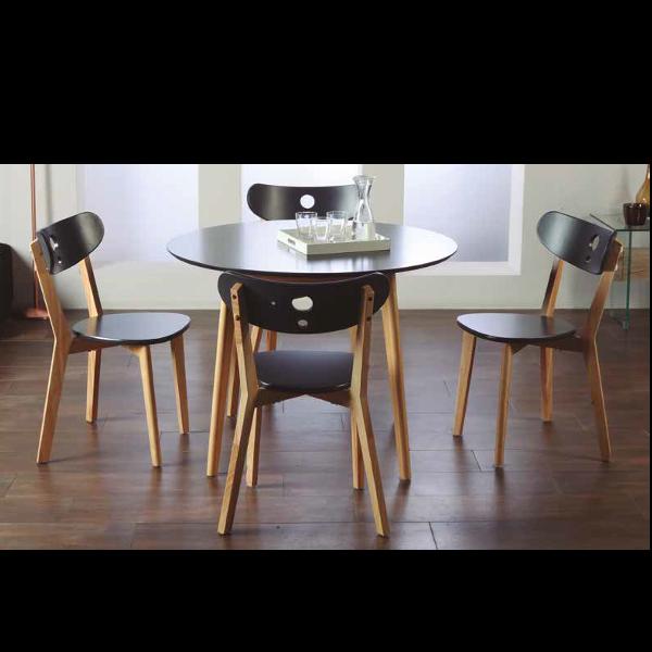 Mesa y 4 sillas aida for Juego mesa cocina