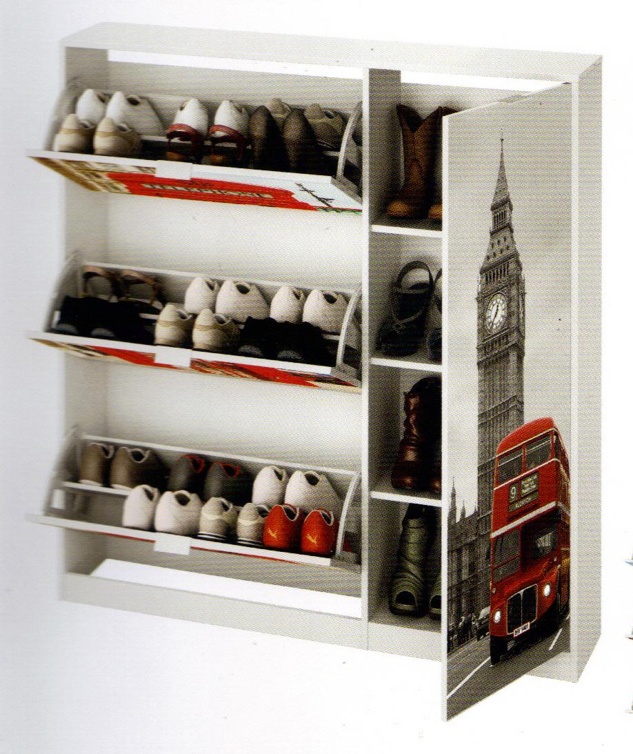 Zapatero 4 ptas con casillero para botas mod england for Mueble zapatero botas