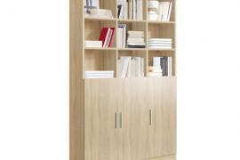 estanteria libreria 3 puertas 9 huecos acabado cambrian
