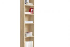 Estanteria libreria alta 5 huecos acabado cambrian