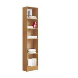Estanteria libreria alta 5 huecos acabado cerezo