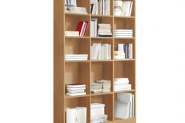 Estanteria libreria alta 15 huecos acabado cerezo