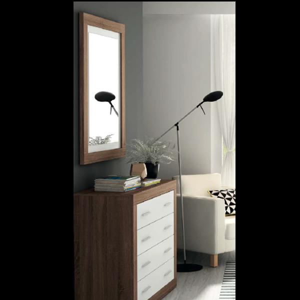 Conjunto c moda 4 cajones con espejo jordan - Comoda con espejo ...