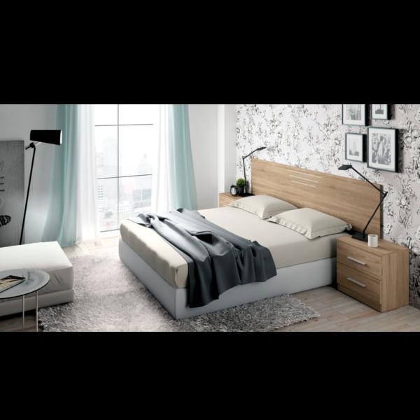 Dormitorio r stico modelo niza blanco lavado for Dormitorio rustico