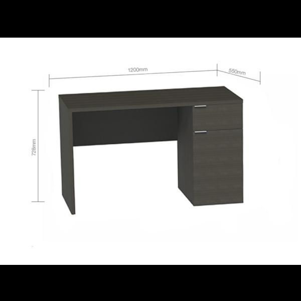 Escritorio 1 cajon 1 puerta 1 estante d320 for Medidas mesa escritorio