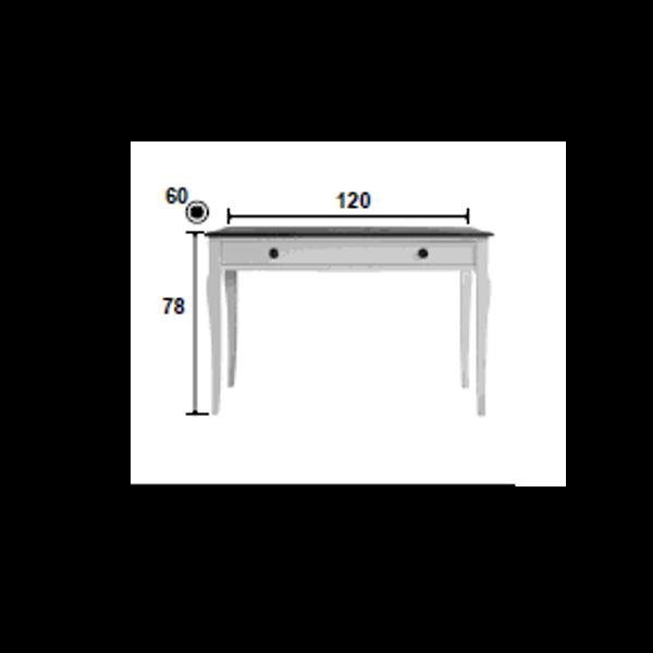 Mesa escritorio velvet con silla estilo vintage for Medidas mesa escritorio