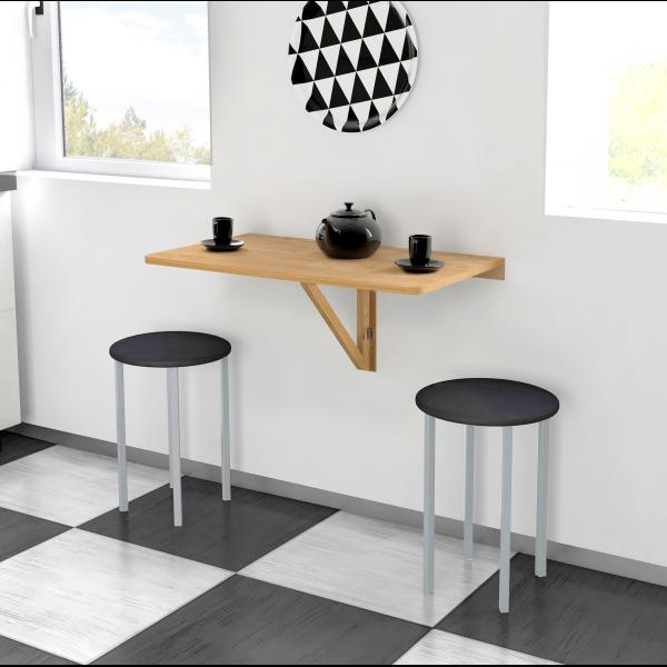 Pack mesa extrabible modelo pi con 2 taburetes for Mesa cocina con taburetes