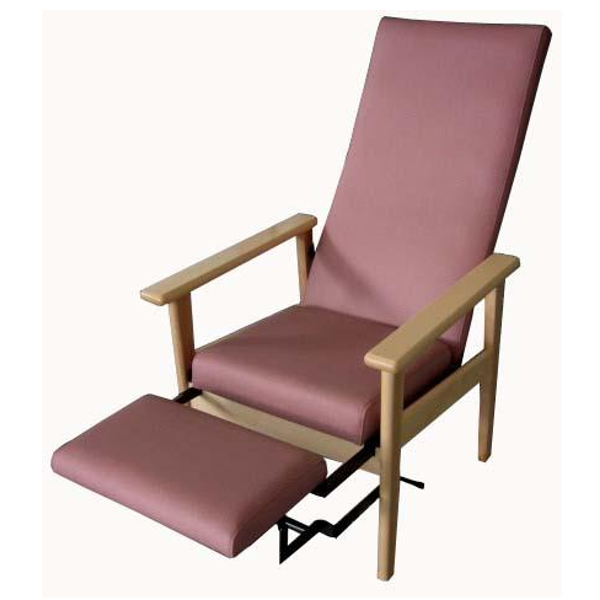 sillon geriatria mod 200 reclinable con reposapies
