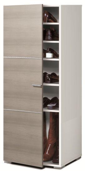 Armario zapatero con estantes for Armario zapatero blanco