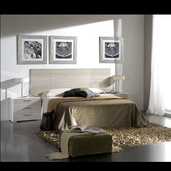 Dormitorio combinado blanco-Roble/cambrian básico - KitMuebles.com