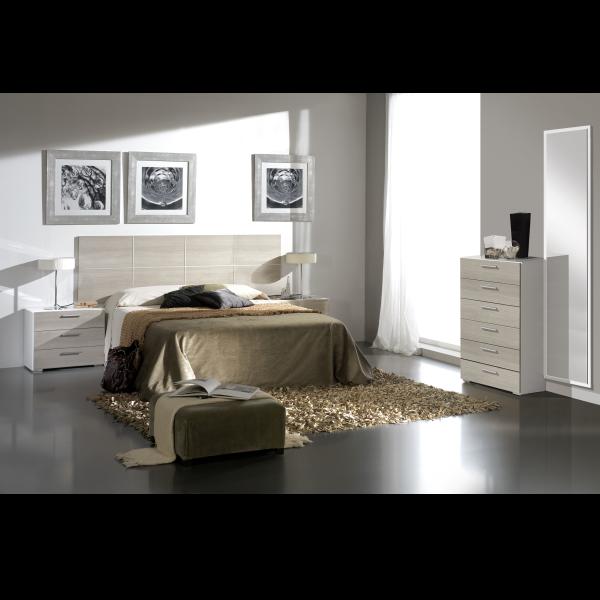 Dormitorio combinado blanco roble cambrian for Color cambrian muebles