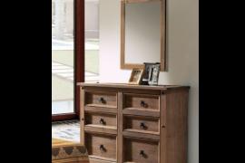 Comoda Rustica con espejo modelo rustico