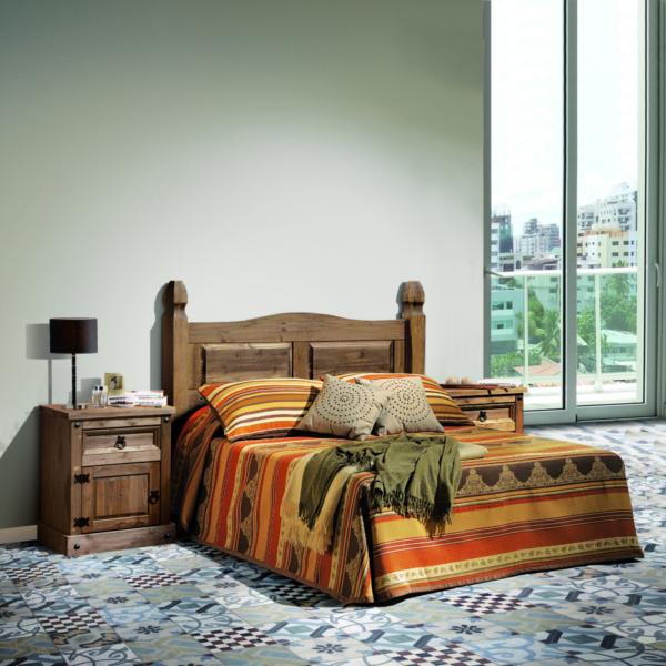 Dormitorio rústico color único