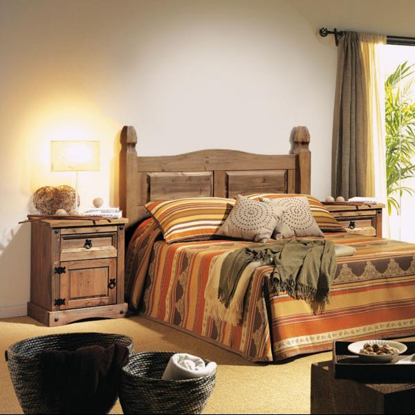 Dormitorio matrimonio rustico for Dormitorio rustico