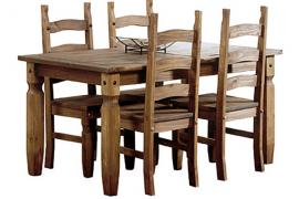 mesa comedor fija rustica