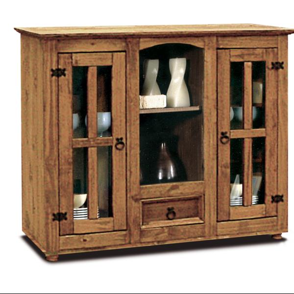 Vajillero rustico de madera maciza