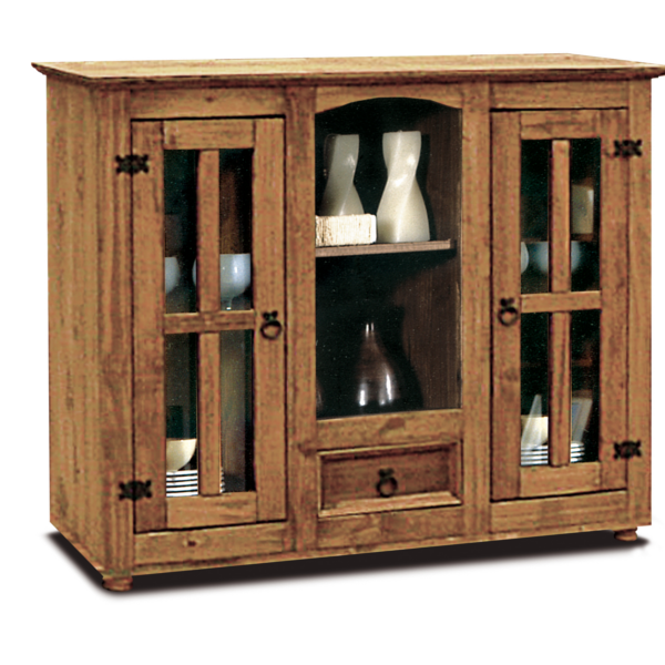 Vajillero rustico madera maciza - Armarios de madera maciza ...