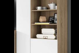 Modulo 2 puertas Logan de Muebles Azor, acabado cambrian-blanco