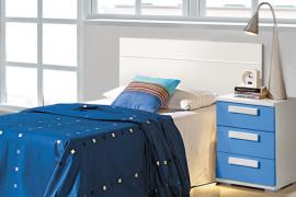 Dormitorio Juvenil economico Cabecero y mesita 3 cajones