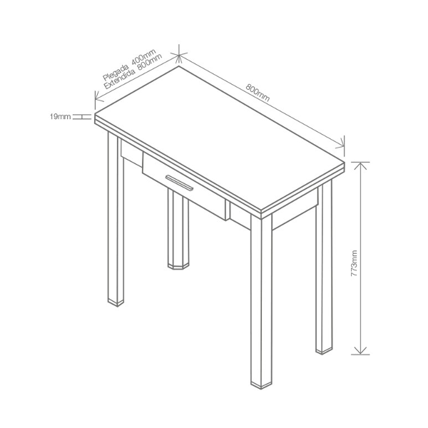 Mesa de cocina libro - KitMuebles.com