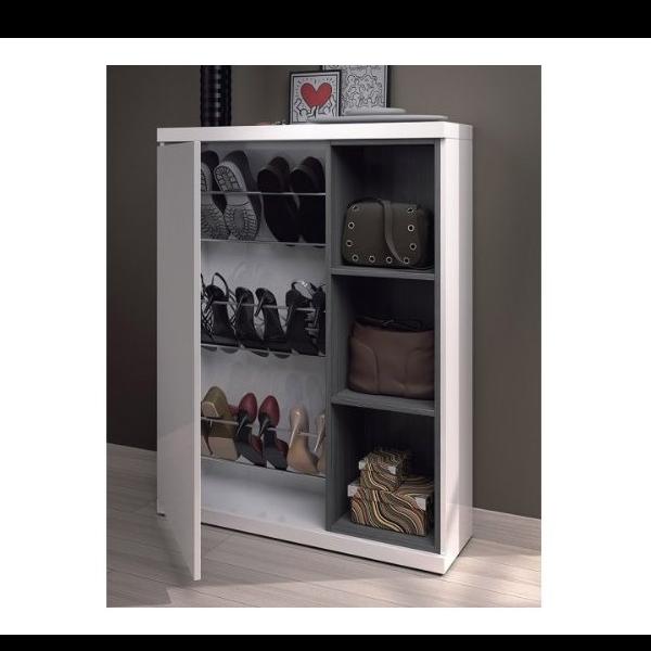Recibidor zapatero con espejo modelo Adhara  KitMueblescom