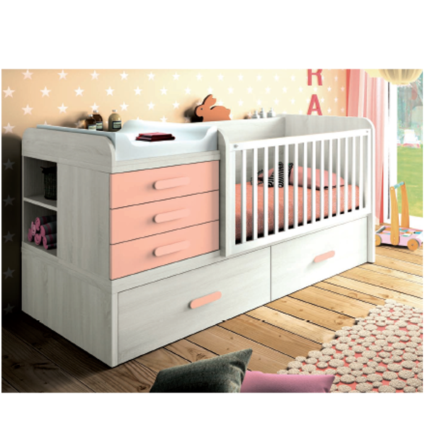Cuna convertible modelo Plus -transformable 90 x 190 - KitMuebles.com