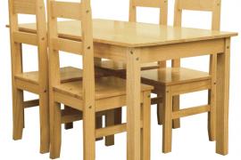 Mesa comedor con sillas madera maciza