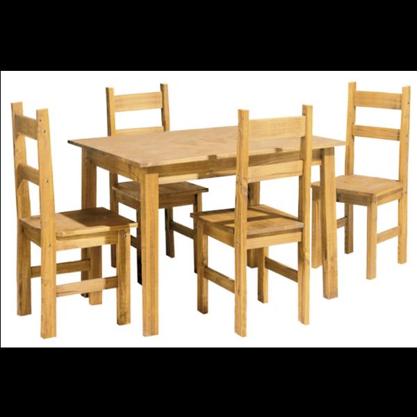 Muebles kit madera maciza 20170818162909 - Sillas comedor madera ...