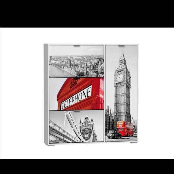 Zapatero 3 trampones 1 puerta modelo London