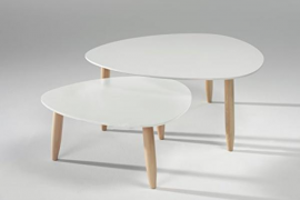 Juego mesas nido modelo Beda acabado blanco-blanco