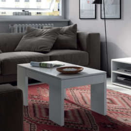 mesa centro elevable 001637BO acabado blanco brillo Ambiente