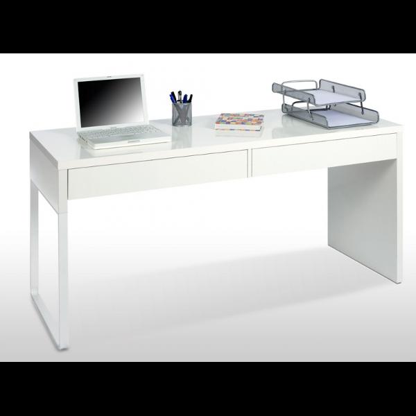 MEsa de escritorio con 2 cajones de pata metalica