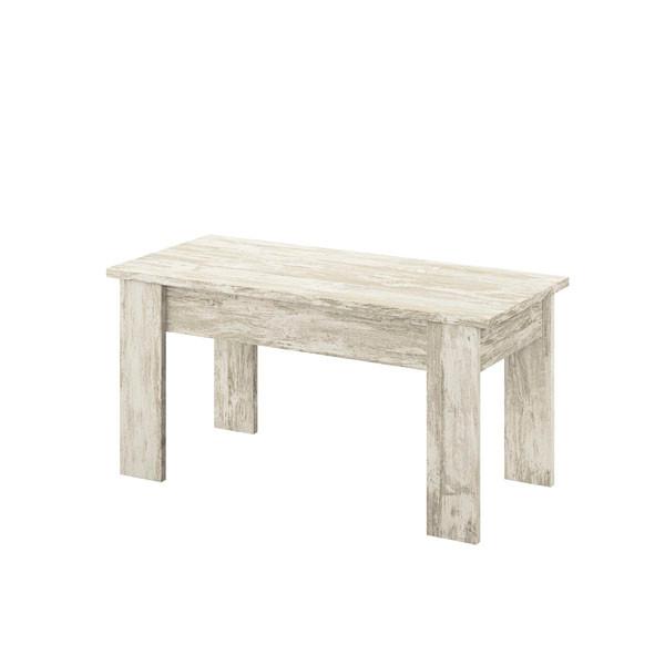mesa centro elevable modelo Logan acabado Vintage