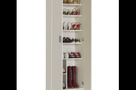 Armario multiusos 2 puertas con estantes regulables en altura acabado color blanco