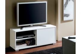 Mesa de television modelo Taiga acabado blanco brillo