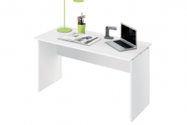 Mesa despacho modelo Teide acabado blanco brillo