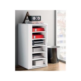Mueble auxiliar y multifuncional con puerta giratoria