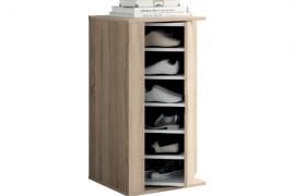 Mueble auxiliar y multifuncional puerta giratoria