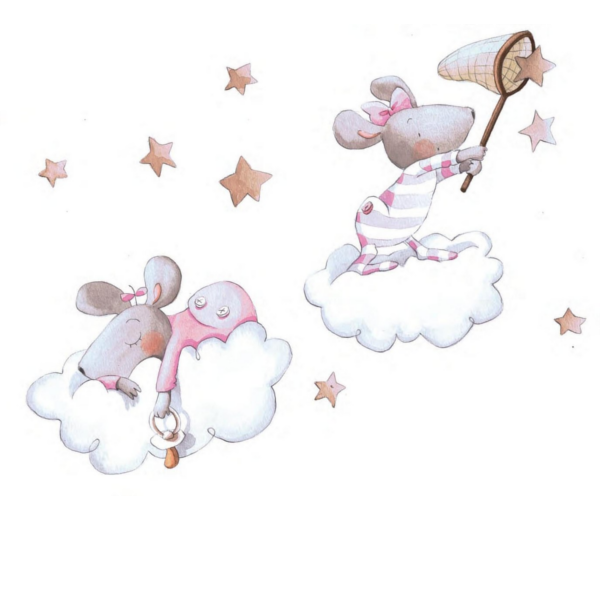 Vinilo decorativo infantil atrapando una estrella