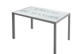 Mesa de cocina fija de cristal modelo Asfeld