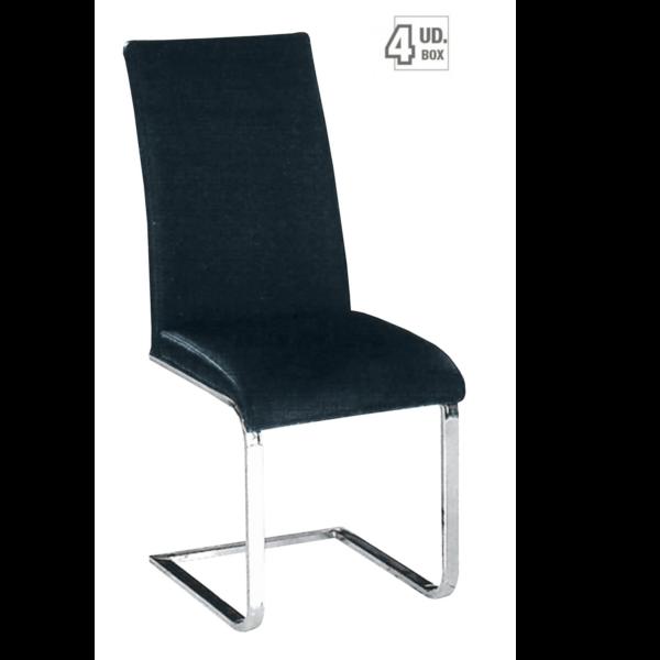 Silla cromada si738 negro for Sillas salon diseno