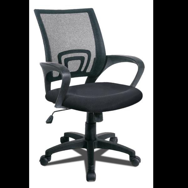 Silla de oficina asiento con elevacion y respaldo transpirable acabado negro