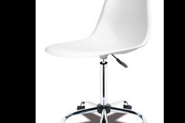 Silla de escritorio y oficina elevable con base cromada y asiento de polipropileno