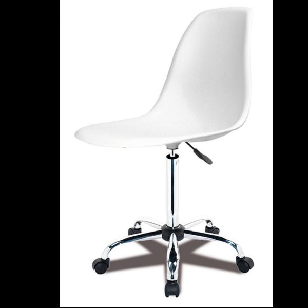 Silla de escritorio polipropileno blanco for Silla de escritorio