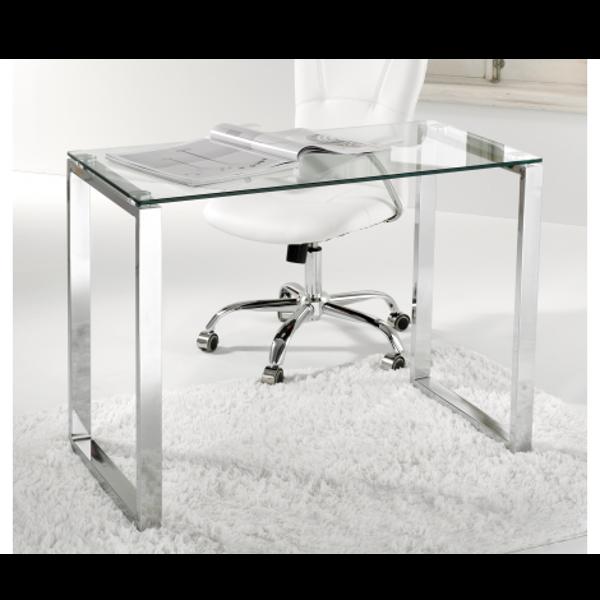 Mesa despacho de cristal y acero