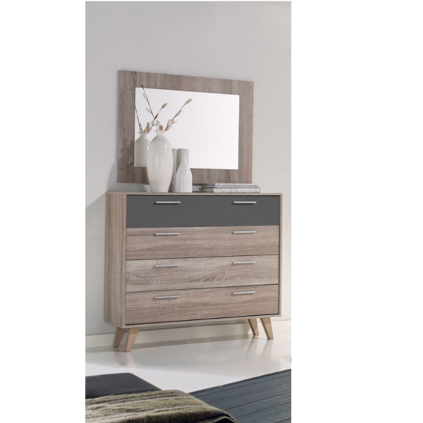 Comoda vintage 4 cajones con espejo - Comoda para habitacion ...