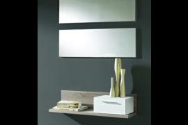 Recibidor 2 espejos y consola modelo RE-028 acabado roble-cambrian