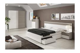 Composicion dormitorio blanco fresno