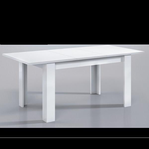Mesa de comedor blanco brillo 90x140 extensible for Mesa comedor blanco brillo